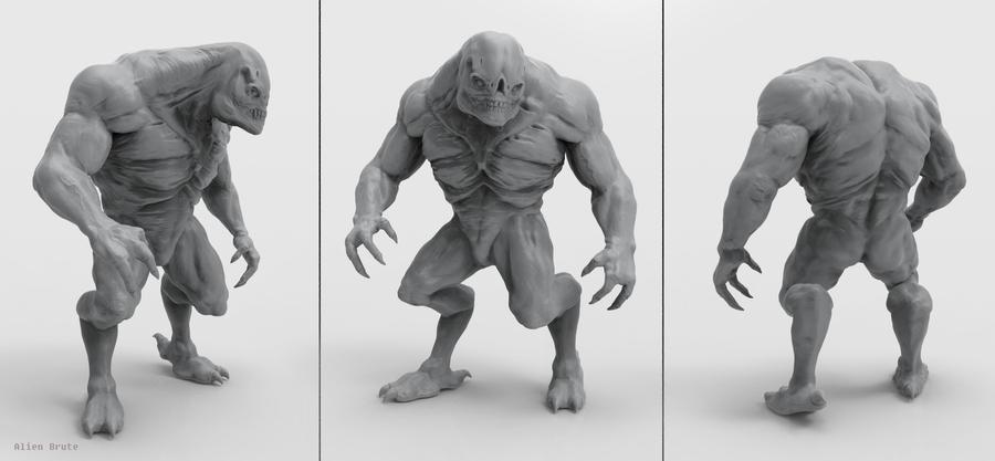 Alien Brute Sculpt by Akiratang