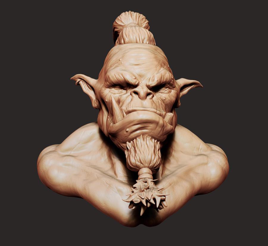 Orc Head Sculpt by Akiratang
