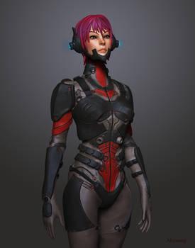 Sci Fi Soldier Beauty Shot