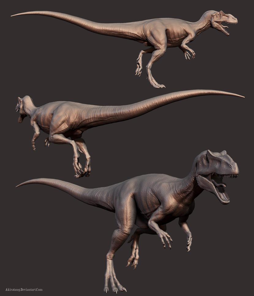 Allosaurus by Akiratang Zbrush Allosaurus