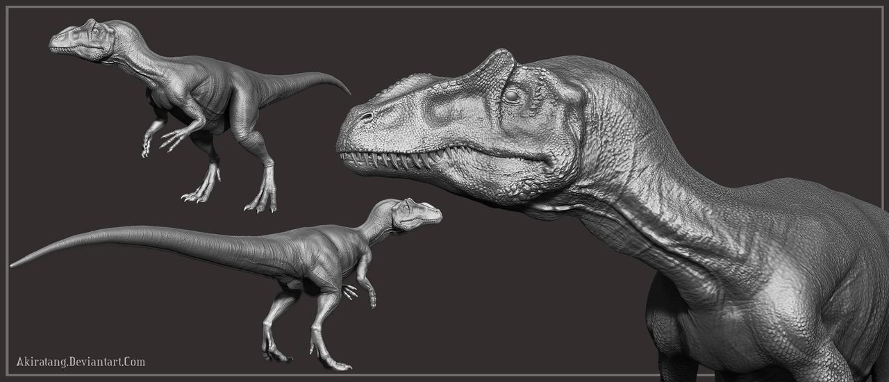 Allosaurus WIP sculpt by Zbrush Allosaurus