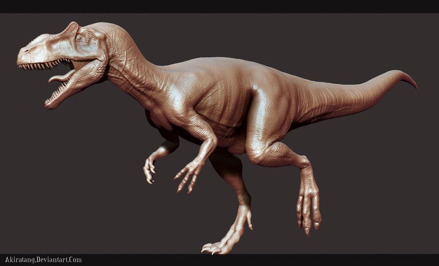 Allosaurus Sculpt by Akiratang Zbrush Allosaurus