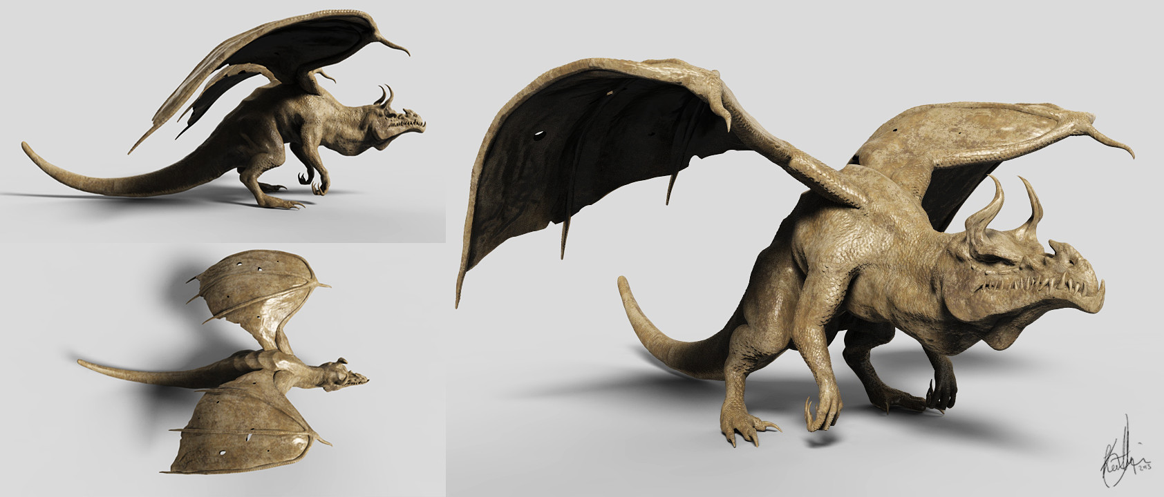 Dragon Zbrush Sculpt - Elder Dragon by Akiratang