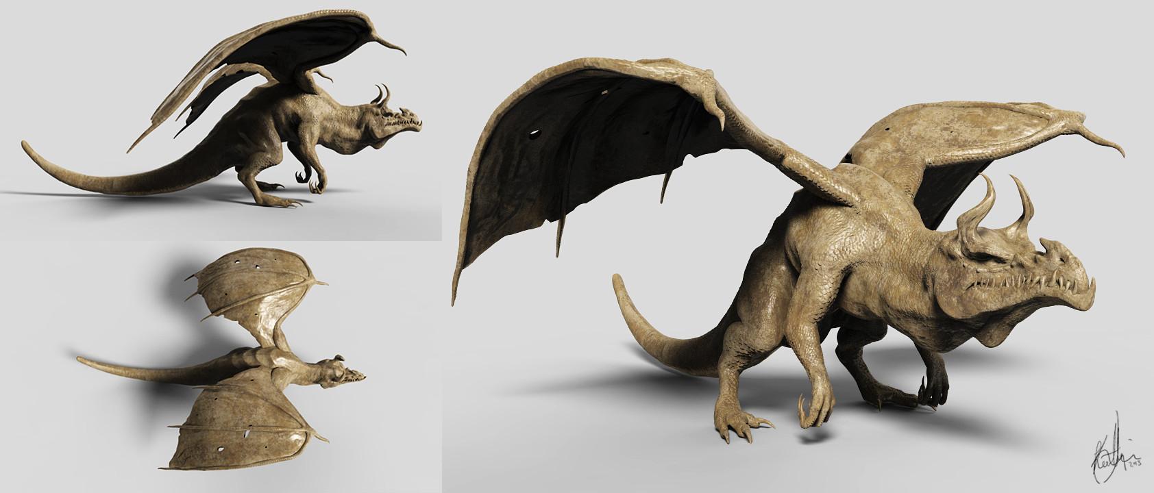 Dragon Zbrush Sculpt - Elder Dragon by Akiratang