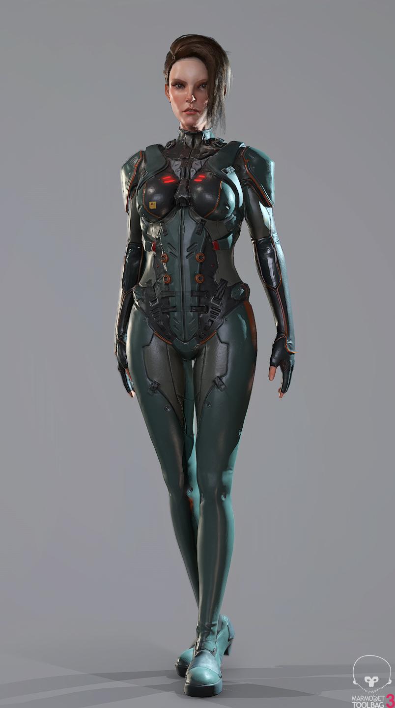 Scifi Soldier Ada Render