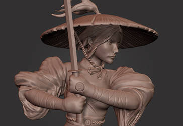 Swords Woman Speed Sculpt by Akiratang