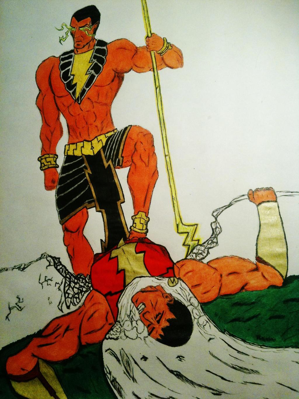 Black Adam vs Captain Marvel by stringoforion on DeviantArt