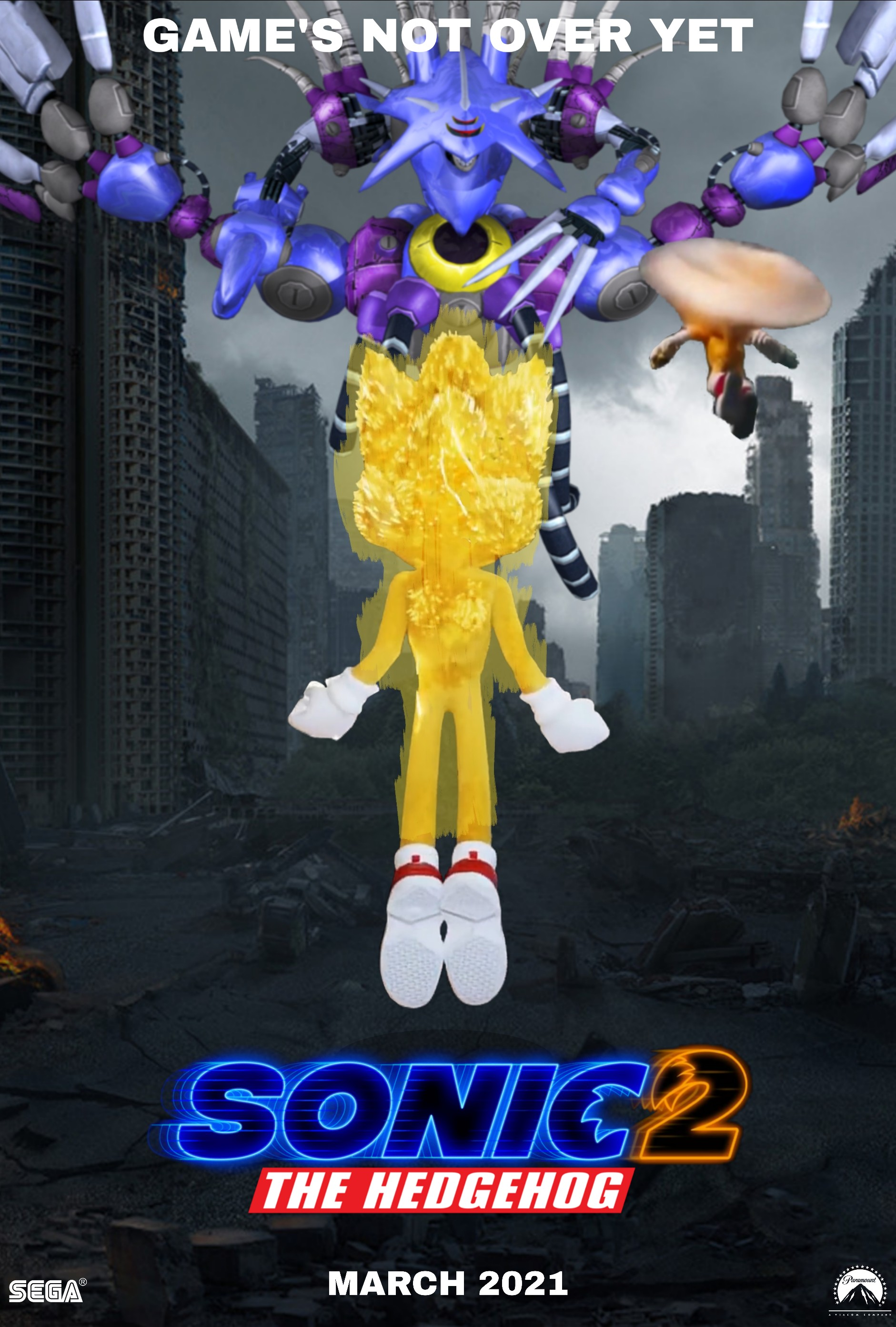 Sonic Movie 2 Fan Made Poster By Abealy2 On Deviantart