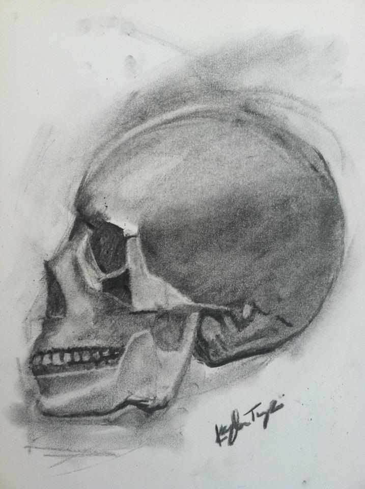 Human Skull by beaniegeekgirl