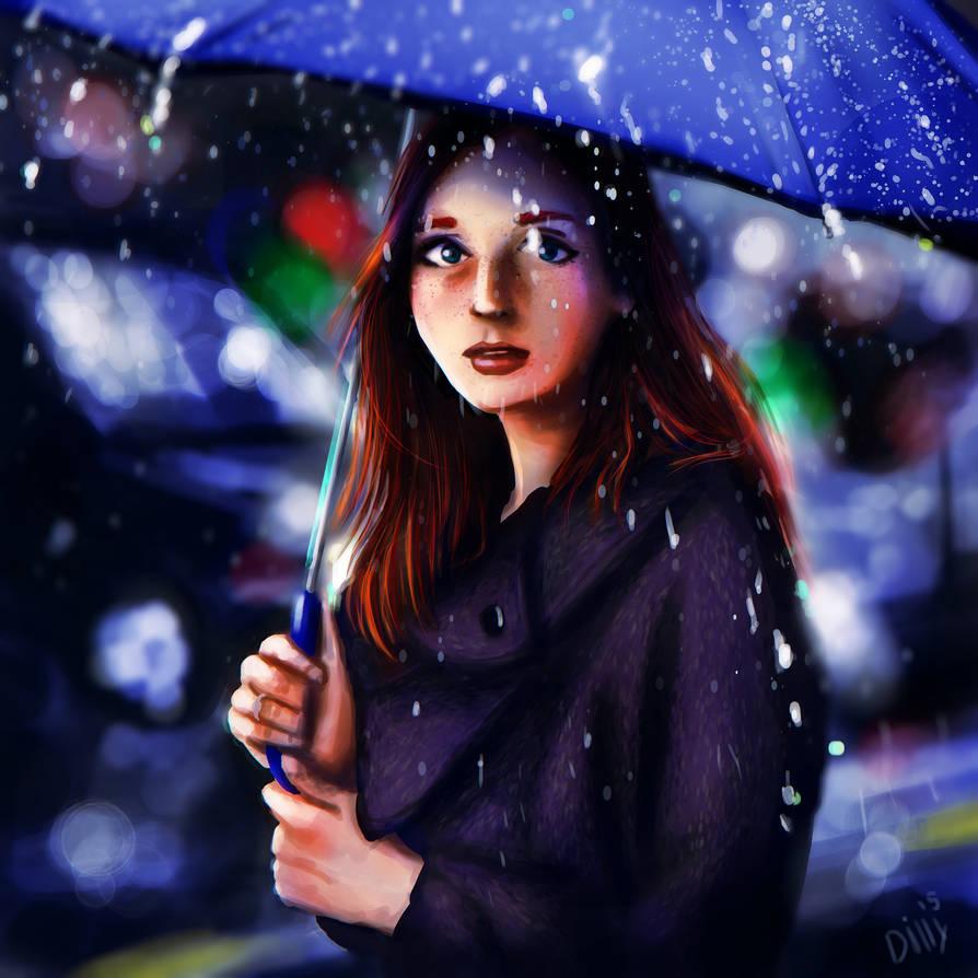 Blue Rainy Day