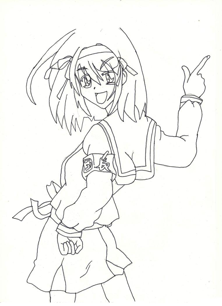 Dibujos Para Colorear Anime Girl ~ Ideas Creativas Sobre Colorear