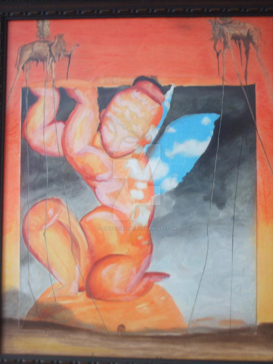 The orange lady by ruennadreamer