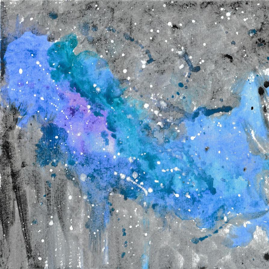 Blue Galaxy [watercolor] by DawnyBear666