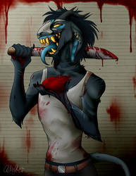 Art Fight   Razor by DawnyBear666