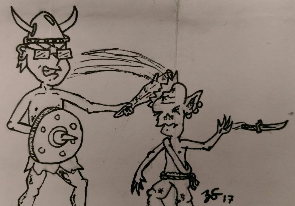Goblin Encounter by PartTimeDoodler