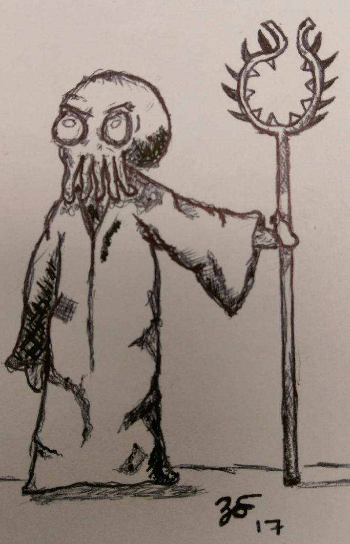 Cthulhu Priest by PartTimeDoodler