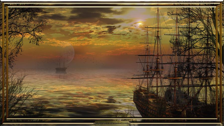 UN DESCANSO EN EL CAMINO Golden_sea_by_brotherguy-d598p7k