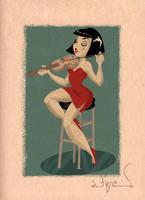 Violin Girl by RobBlizzard