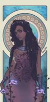 African Queen Sainasix Illustration