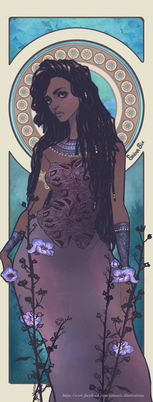 African Queen Sainasix Illustration by Saina6