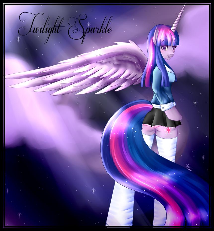 Anthro - Twilight Sparkle the Alicorn by x-Piiu