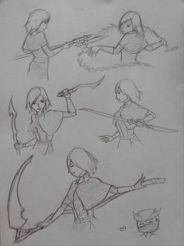 Bloodborne weapon poses