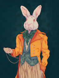 The white rabbit in Wonderland by HypathieAswang