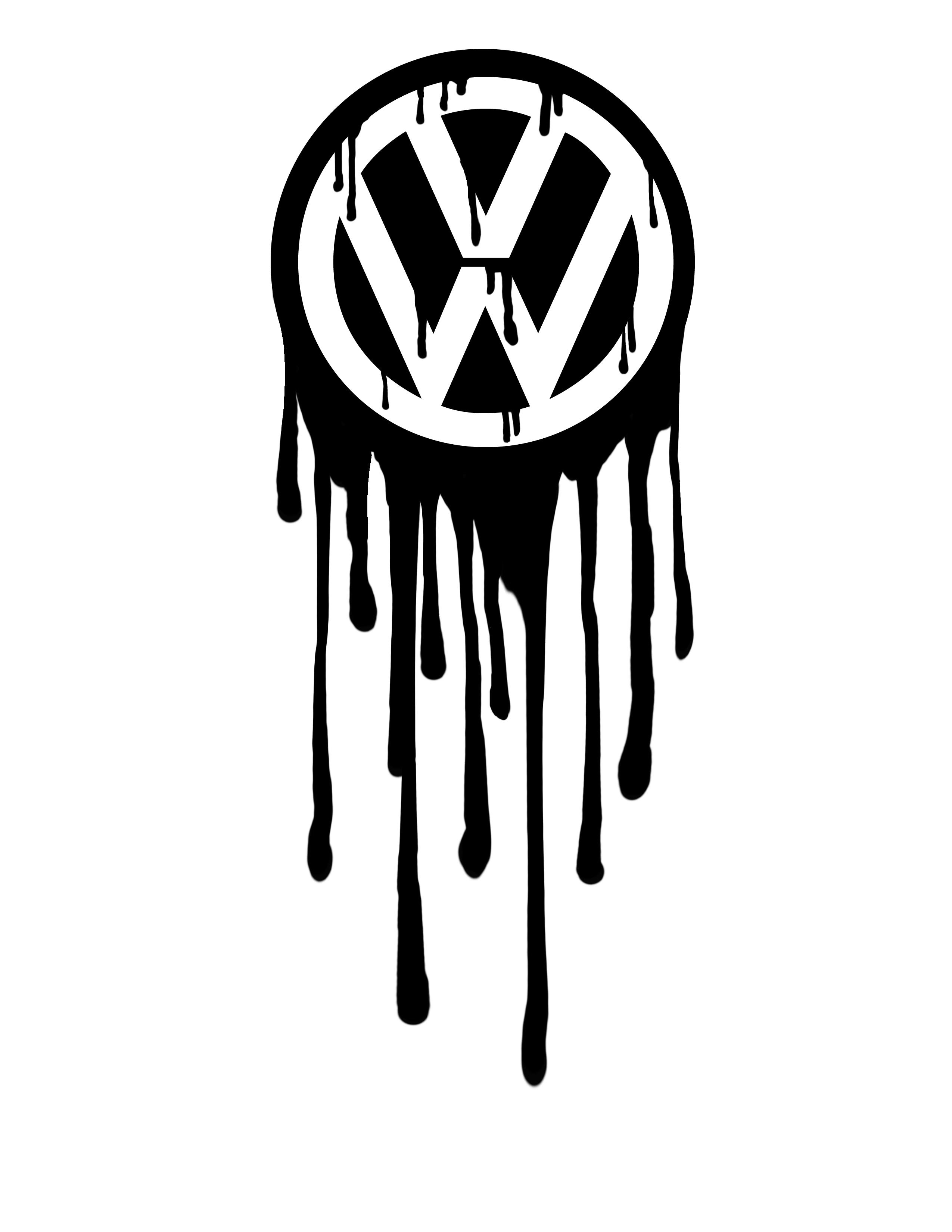 Volkswagen logo bleeding by greenbob1986 volkswagen logo bleeding by greenbob1986