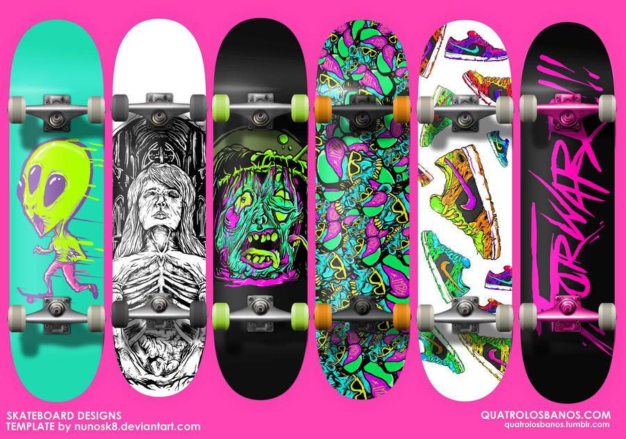 pics photos 40 creative skateboard designs