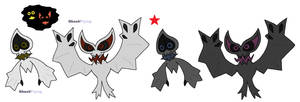 Ghostly bats by JWNutz