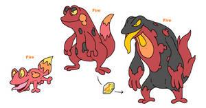 Fire salamander by JWNutz