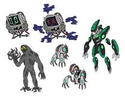 Creature doodles: machines by JWNutz