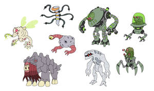 Creature doodles: ayyliens by JWNutz