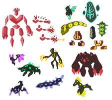 Creature doodles: minerals