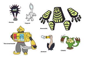Creature doodles: puns! by JWNutz