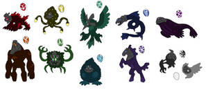 Creature doodles: more elemental things