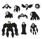 Creature doodles: shadowy things