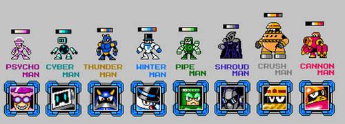 Robot master sprites v2 by JWNutz