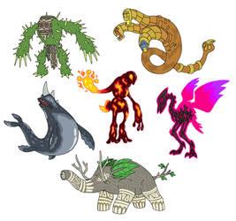 Creature doodles: elementals 3 by JWNutz