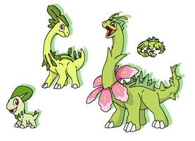 Chikorita line re-imagining by JWNutz