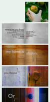 Portfolio: Typographic Home by Lezah