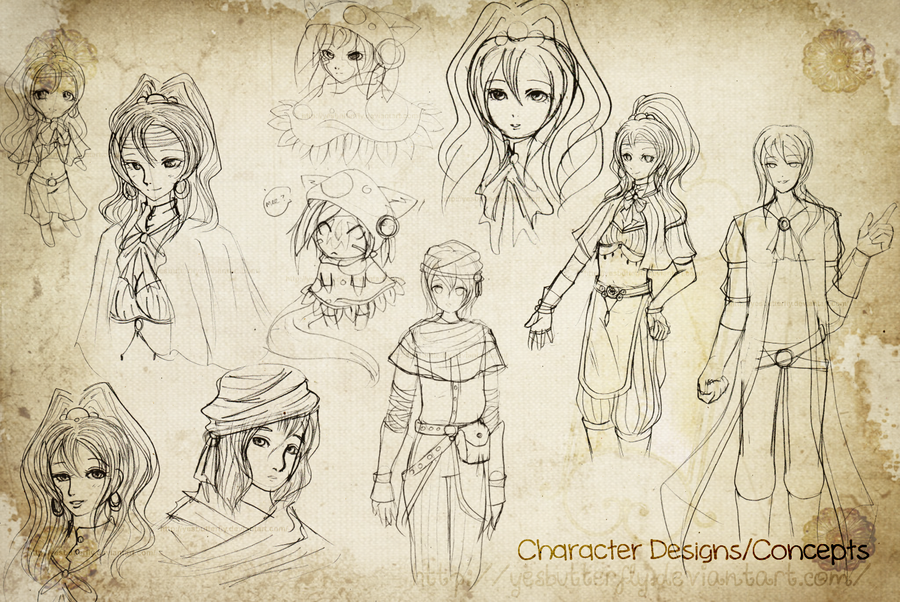 Character Concept and Design Dump 1 by yesbutterfly