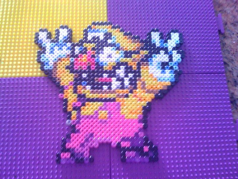 Wario Bead Sprite by WickedAwesomeMario81