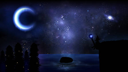 Moonlit Wizard by Maelstromss