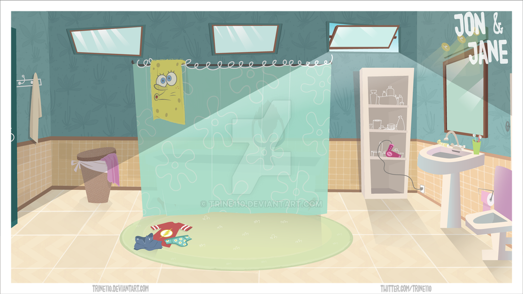 Bathroom Animation Background By Trine110