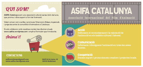 cartoon flyer ASIFA cat design by trine110