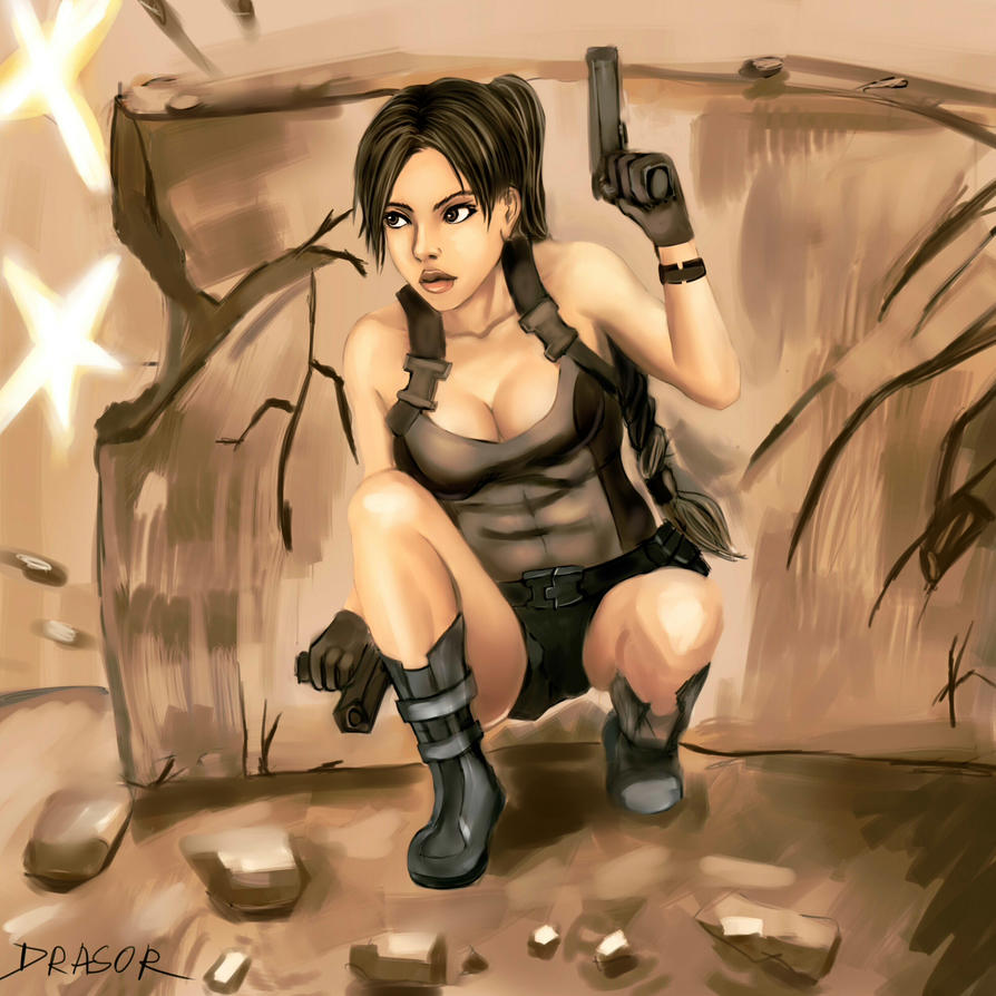 Lara Croft by drasor