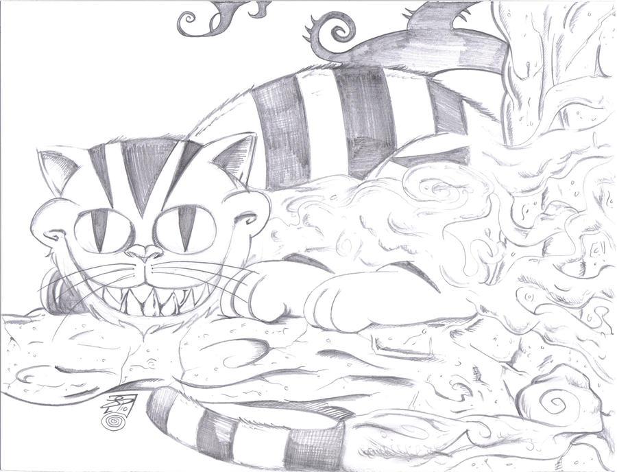 The Cheshire Cat Comish by ArtistaJPEntrenando