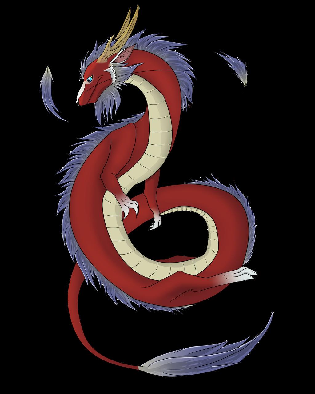 random asian dragon by xBlackfangx