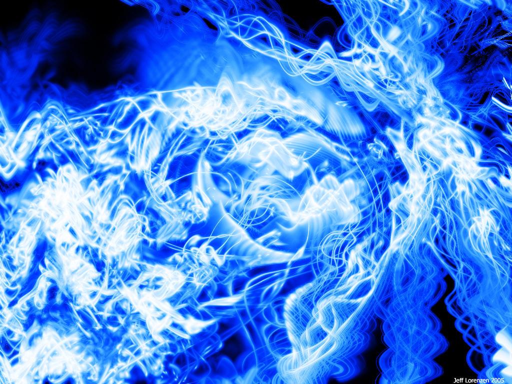 Blue swirl by cgi